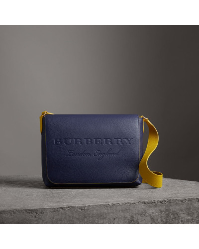 Burberry Herren Große Messenger-Tasche aus Leder in Zweitonoptik Günstigster Preis Rabatt i3rzE9CB