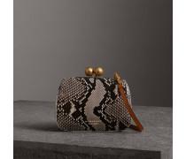 Kleine Tasche aus Pythonleder mit Bügelverschluss