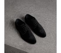 Derby-Schuhe aus Samt