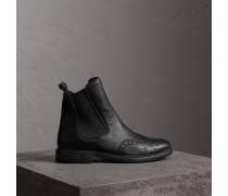 Chelsea-Stiefel aus strukturiertem Leder