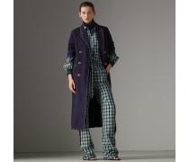 Zweireihiger Mantel aus Baumwolle und Leinen