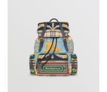 The Large Rucksack mit Vintage-Aufdruck