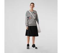 Sweatshirt aus Jersey mit Zierdetails