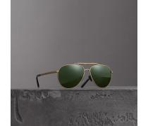 Fliegersonnenbrille mit oberer Rahmenlinie