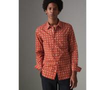 Baumwollhemd mit Vintage-Kachelmuster