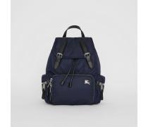 The Medium Rucksack aus wattiertem Nylon und Leder