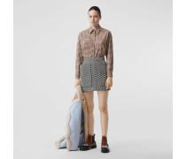 Oversize-Bluse aus Baumwollflanell