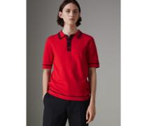 Poloshirt aus Baumwolljersey mit Streifendetails