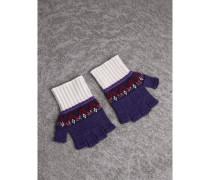Fingerlose Handschuhe im Fair Isle-Design