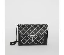 Kleine Crossbody-Tasche aus Leder mit Kettenmuster