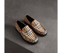 Loafer aus Baumwolle mit Vintage Check-Muster