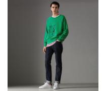 Sweatshirt aus Baumwolle mit Entdeckermotiv