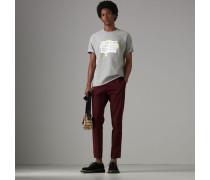 Baumwoll-T-Shirt mit Motiv