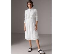 Hemdkleid aus Baumwoll-Voile mit englischer Spitze