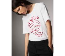 Baumwoll-T-Shirt mit Castleford-Motiv