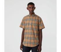 Kurzärmeliges Hemd mit Vintage Check-Muster