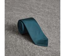 Modern geschnittene Seidenkrawatte mit Karodetail