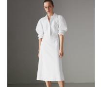 Hemdkleid aus Stretchbaumwolle mit Panels