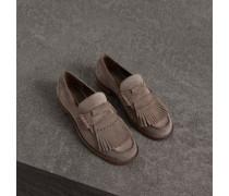 Loafer aus Veloursleder mit Kiltie-Fransen