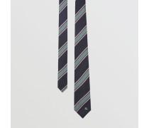 Modern geschnittene Krawatte aus Seidenjacquard