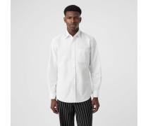Elegantes Hemd aus Baumwollpopelin mit Stickerei