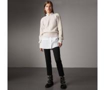 Körperbetonte Hose aus Stretchwolle