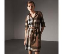 Hemdkleid aus Baumwolle im Karodesign