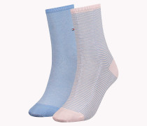 Doppelpack Socken mit feinen Streifen