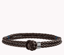Knotted Leather Bracelet