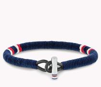 Geflochtenes Armband in klassischen Tommy-Farben