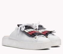 Slipper-Sneaker mit Fransen