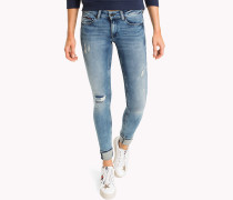 Power-Stretch Jeans mit Fade-Effekt