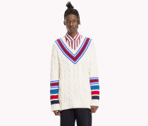 Kricket-Pullover mit Zopfmuster