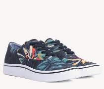 Lace-up-Sneaker mit Tropen-Print
