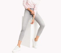 Skinny Fit Jeans mit hoher Leibhöhe