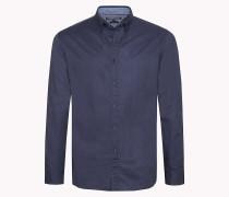 Regular Fit Hemd mit Gitter-Print