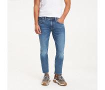 Denton Straight Fit Jeans aus Bio-Baumwolle