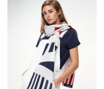 Schal mit Streifen und Logo