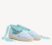 Espadrillen-Sandale mit Mesh