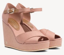 Sandale mit hohem Keilabsatz