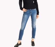 Himmelblaue Skinny Fit Jeans