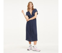 Fit-and-flare Midi-Kleid