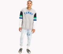 Relaxed Fit Sweatshirt in Blockfarben