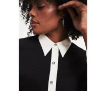 Zendaya Curve Bluse mit Kontrastkragen