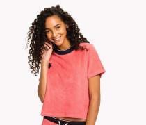Lounge-T-Shirt aus Baumwoll-Frottee