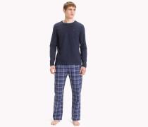 Baumwoll-Pyjama-Set mit Karoprint