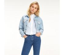 Jeansjacke mit Stone-Wash