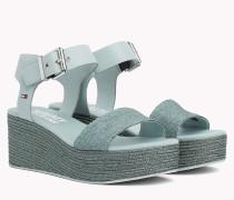 Flatform-Sandale in Denim