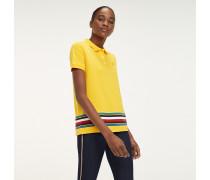 Gestreiftes Poloshirt aus Bio-Baumwolle