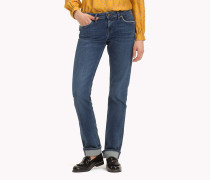 Straight Fit Stretch-Jeans aus Bio-Baumwolle